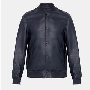 Theory leather Bomber